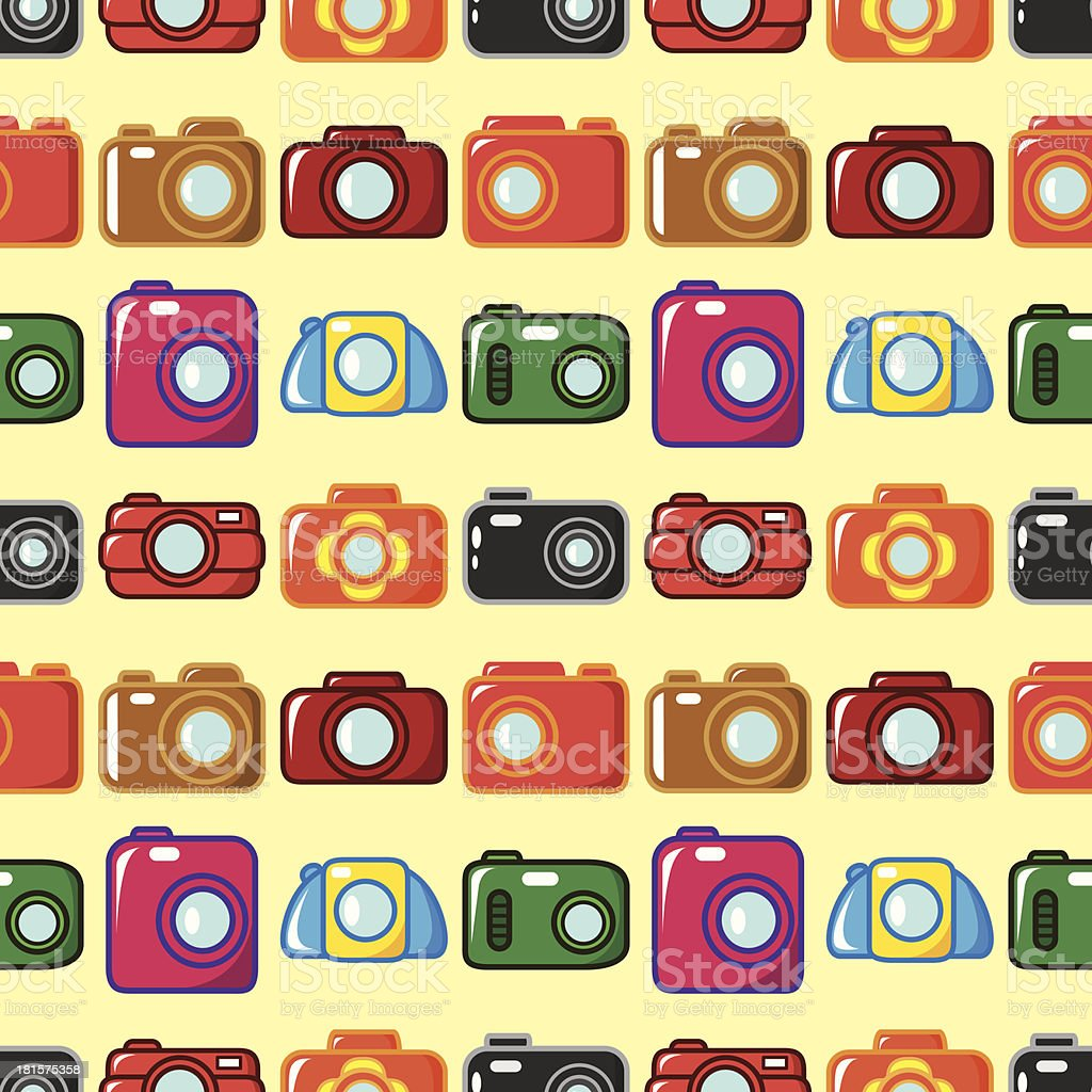 seamless camera pattern royalty-free stock vector art