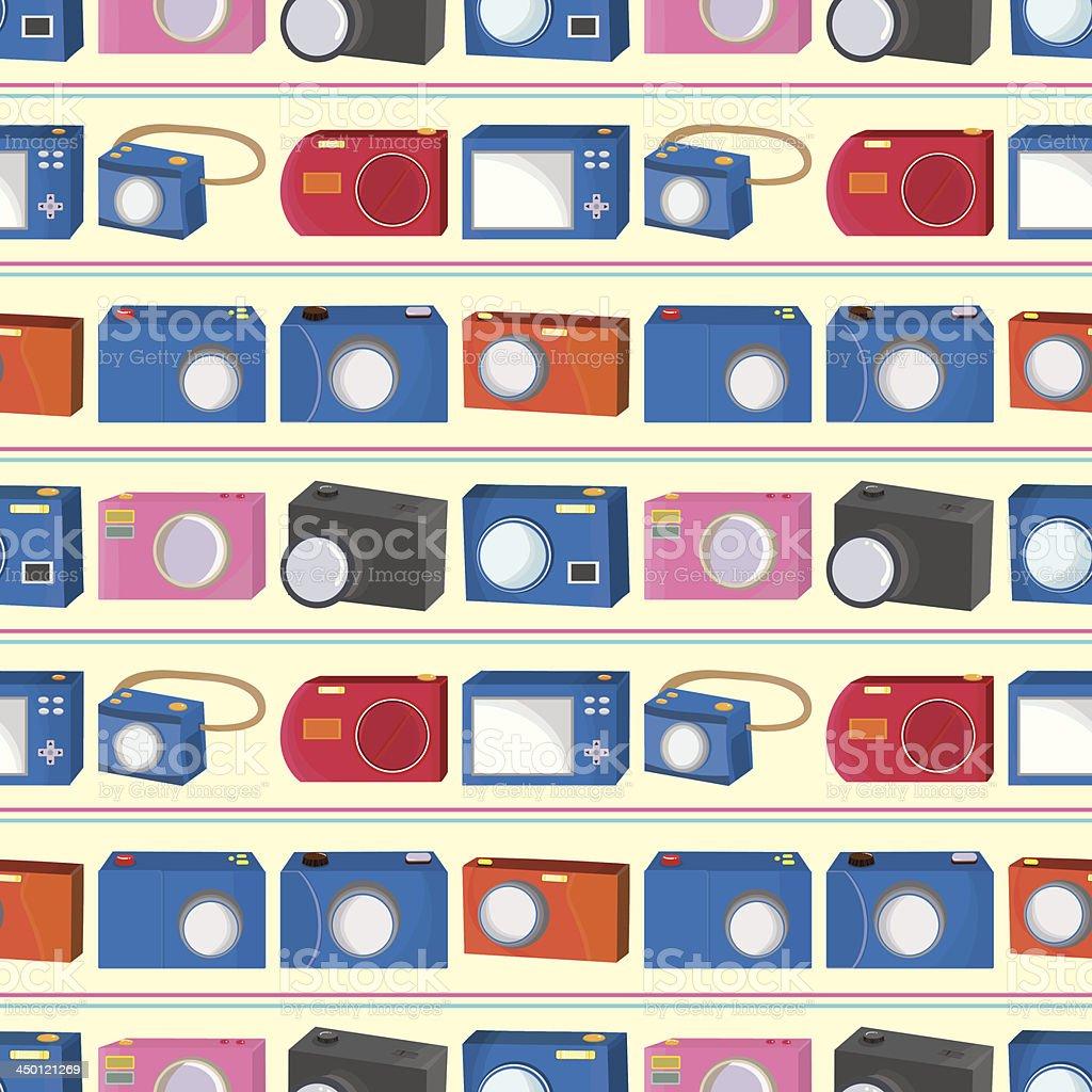 seamless Camera pattern royalty-free stock vector art