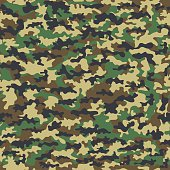 Seamless camouflage military cloth of infantry. Abstract background. Vector illustration