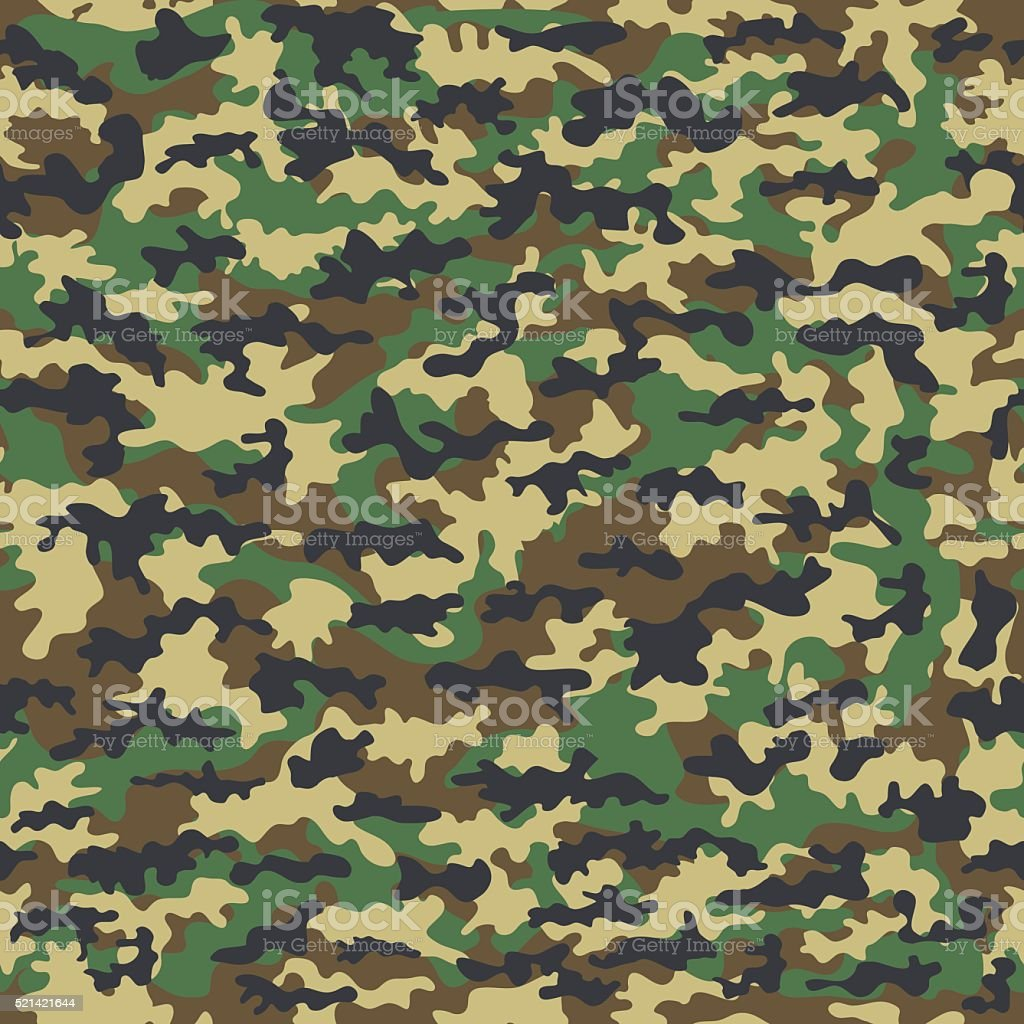 Seamless camouflage military cloth of infantry. Abstract background. Vector illustration vector art illustration