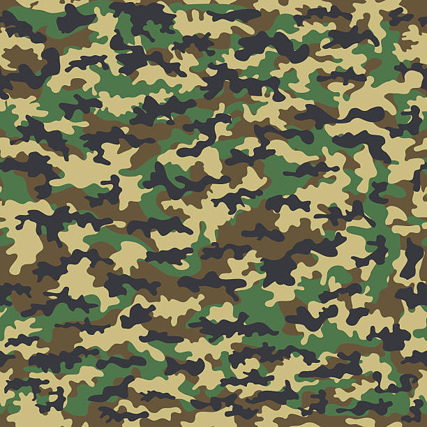 seamless camouflage military cloth of infantry. abstract background. vector illustration - 偽裝 幅插畫檔、美工圖案、卡通及圖標