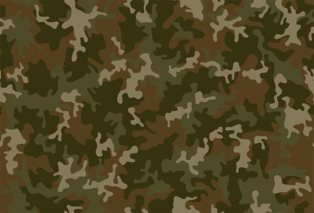 stockillustraties, clipart, cartoons en iconen met naadloos camouflage patroon - roofdieren