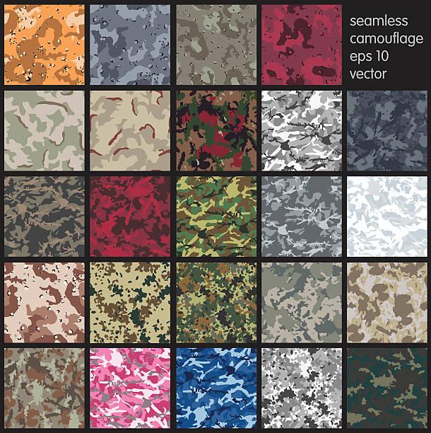 seamless camouflage pattern vector - 偽裝 幅插畫檔、美工圖案、卡通及圖標