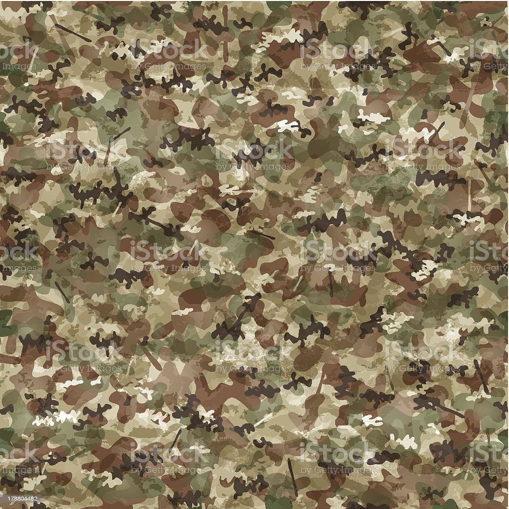Seamless camouflage wallpaper royalty-free stock vector art