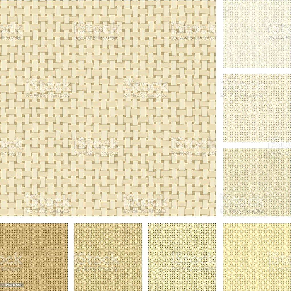 Seamless canvas pattern vector art illustration