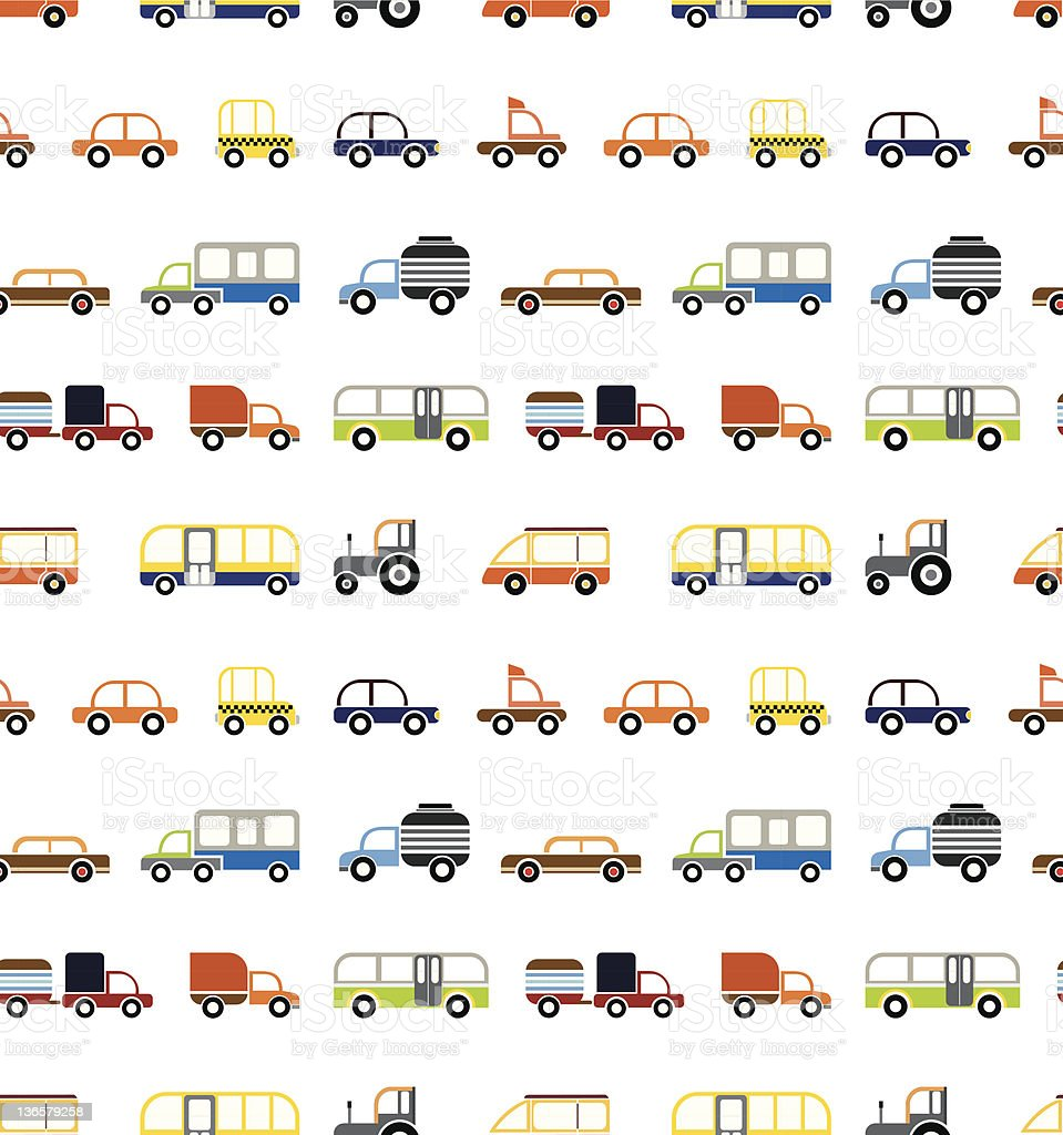 seamless car pattern stock vector art more images of backdrop
