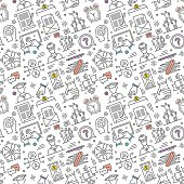 Seamless pattern background vector illustration for career and education compositions.