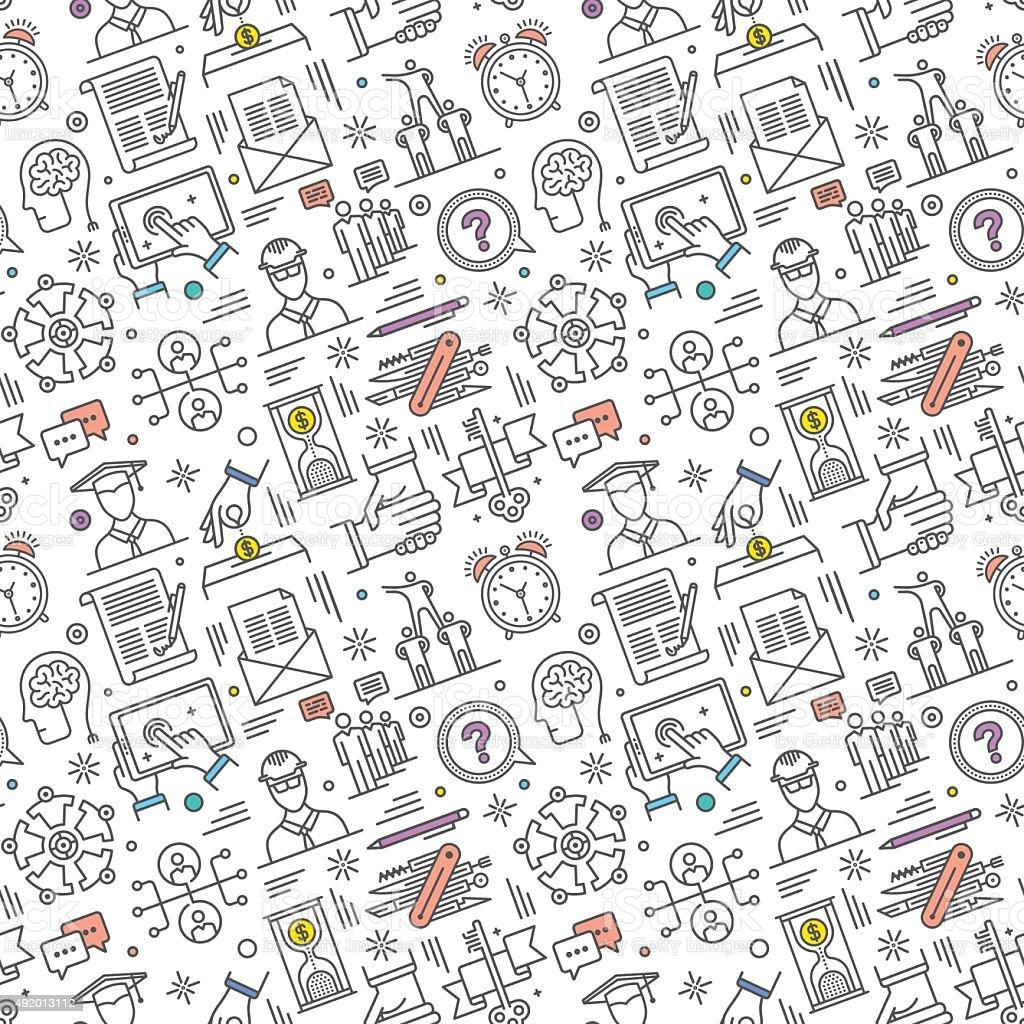 Seamless Career Pattern vector art illustration