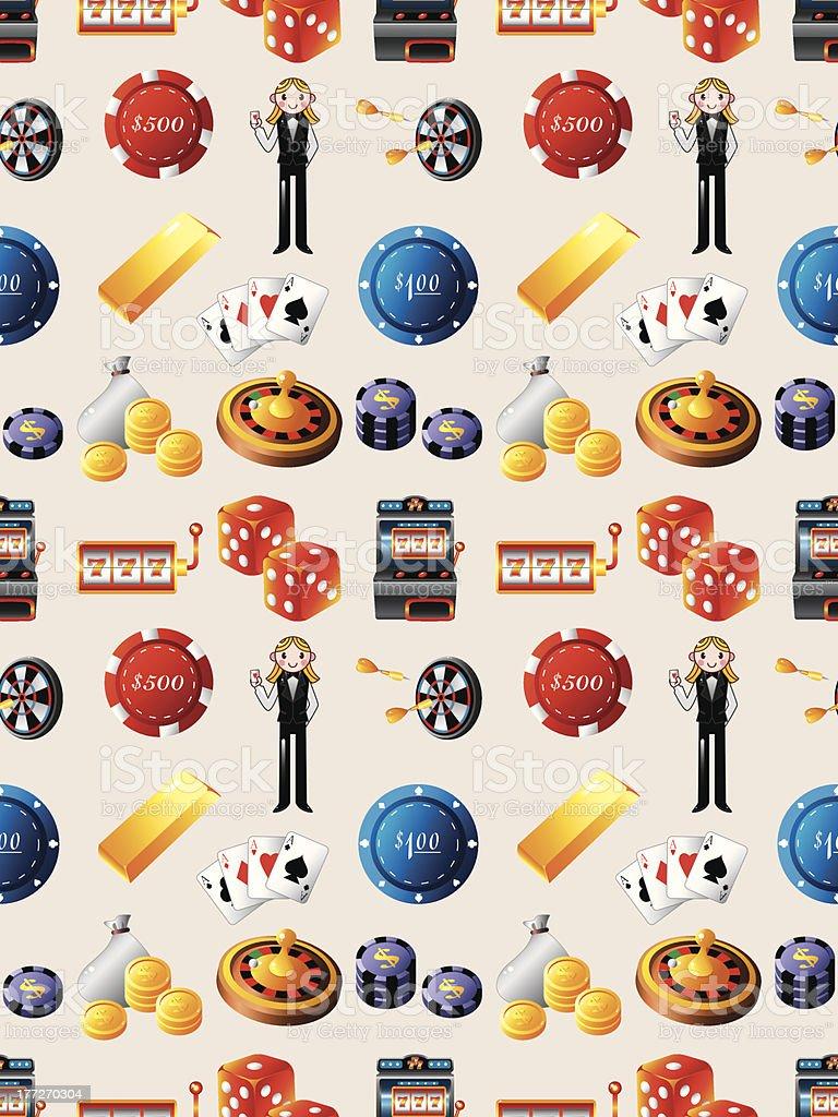 seamless casino pattern royalty-free stock vector art
