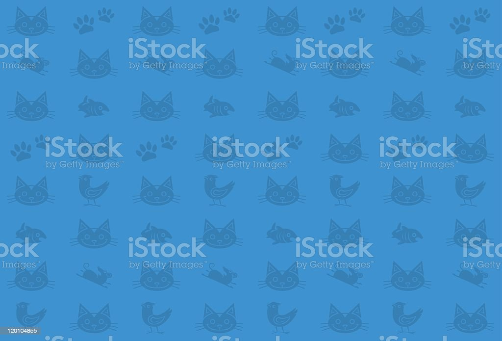 Seamless Cat Pattern royalty-free stock vector art
