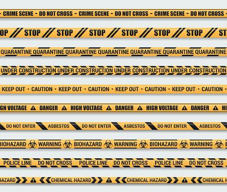Seamless caution tape set