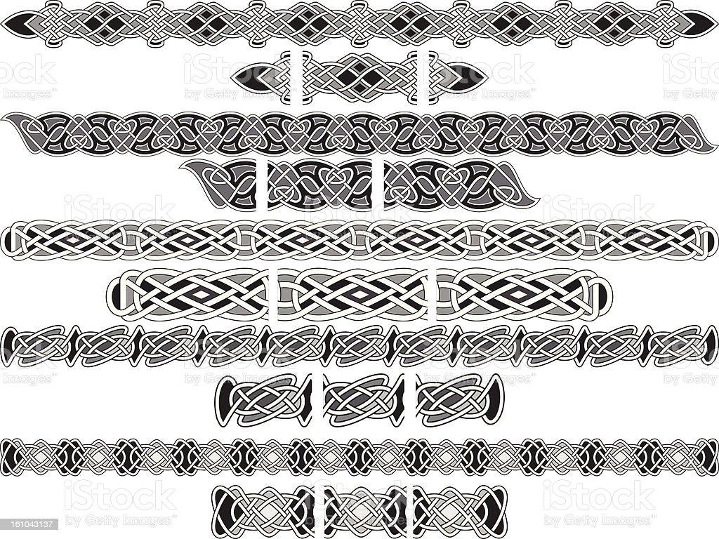 seamless celtic patterns royalty-free stock vector art