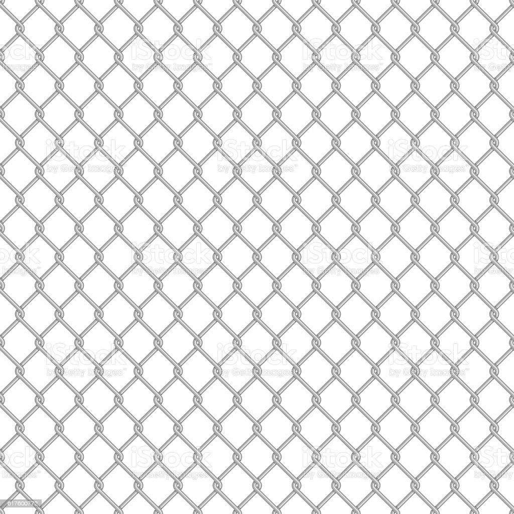 Seamless Chain Link Fence Stock Vector Art & More Images of Abstract ...