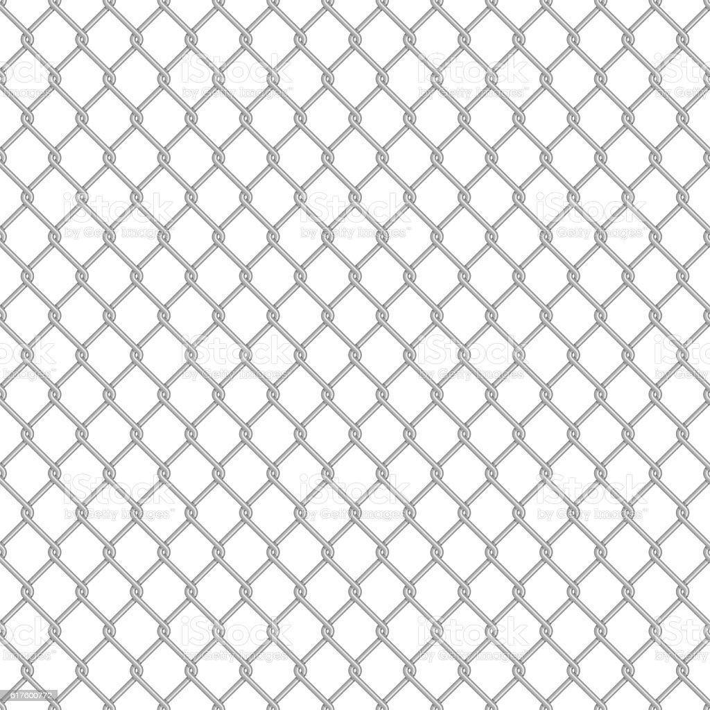 Seamless chain link fence. vector art illustration