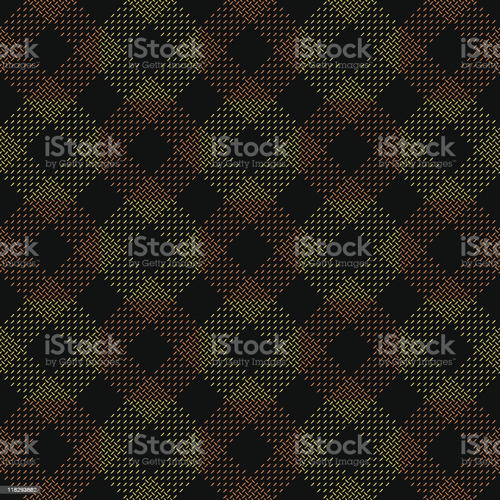 Seamless Checkered Plaid royalty-free stock vector art