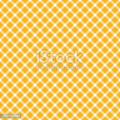 seamless yellow colored checkered table cloth pattern for background design