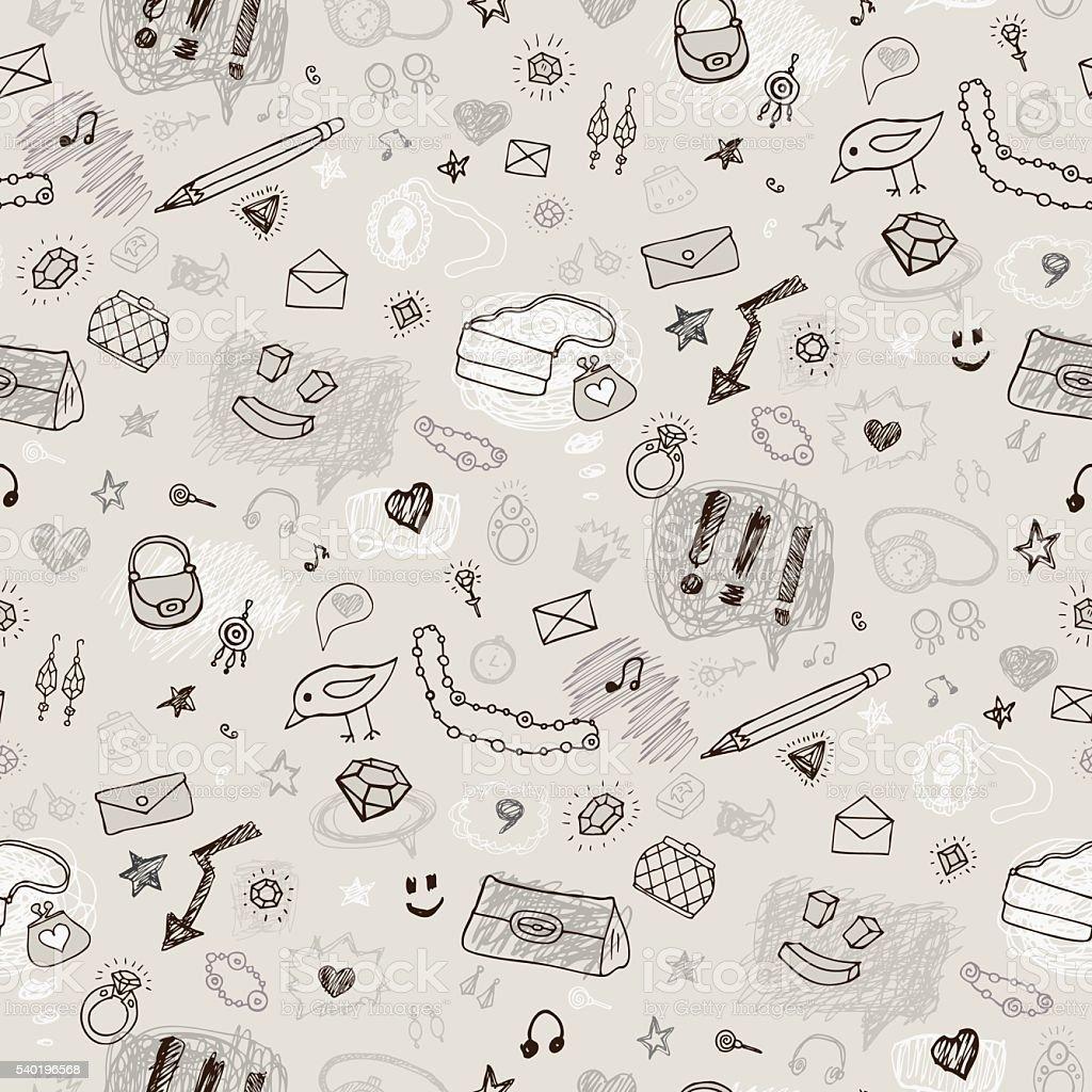 Nahtlose Chemie Hintergrund – Vektorgrafik