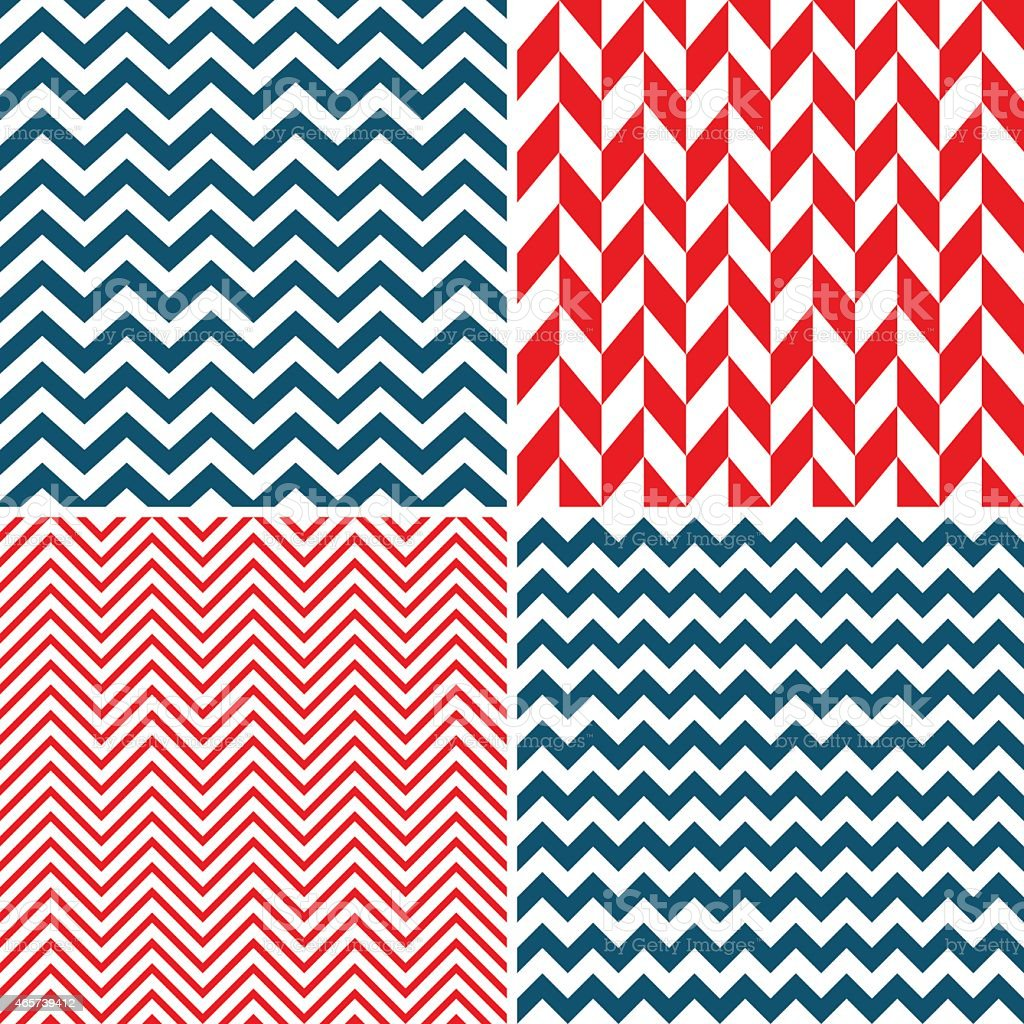 Seamless chevron pattern in different colors vector art illustration