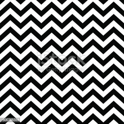 Seamless black and white chevron pattern.