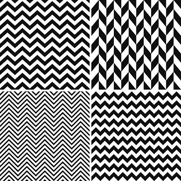 illustrazioni stock, clip art, cartoni animati e icone di tendenza di chevron seamless pattern - zigzag