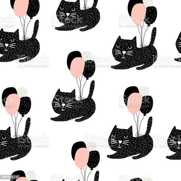 Seamless childish pattern with cute cats flying with balloon creative vector id861946742?b=1&k=6&m=861946742&s=612x612&h=i3xdsvt hzmtkvjbdervkltdqpdry1mi1v9f2dfbxru=