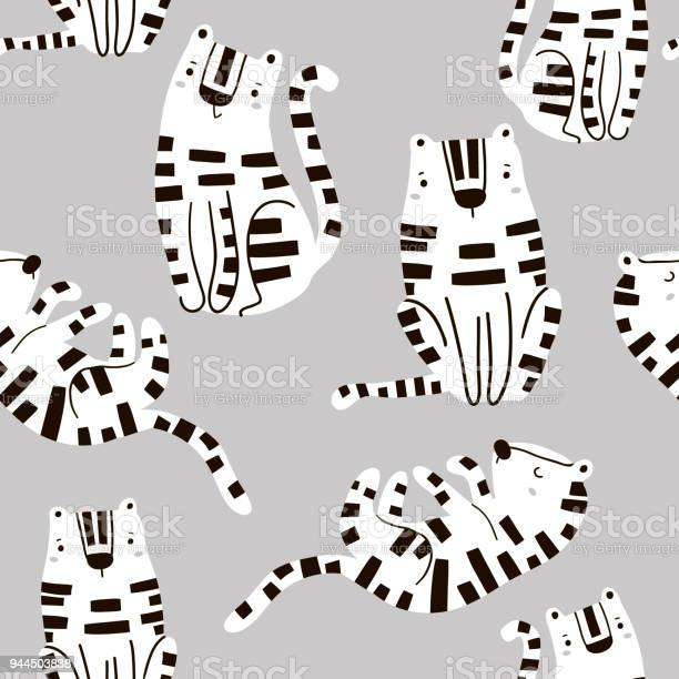 Seamless childish pattern with cute tigers in black and white style vector id944503838?b=1&k=6&m=944503838&s=612x612&h=qtd0uvn08wi6gp9bm5f6qe niiaelgmr4718emm4byc=