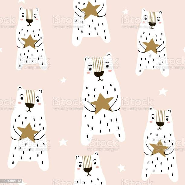 Seamless childish pattern with hand drawn cute polar bears and stars vector id1040885218?b=1&k=6&m=1040885218&s=612x612&h=nfsnx8okskxcquzj l7djfp5ebx2jueuvy06z3tvtss=