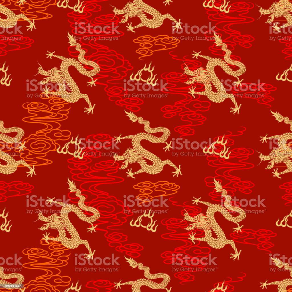 Seamless Chinese Dragon Pattern royalty-free seamless chinese dragon pattern stock vector art & more images of ancient