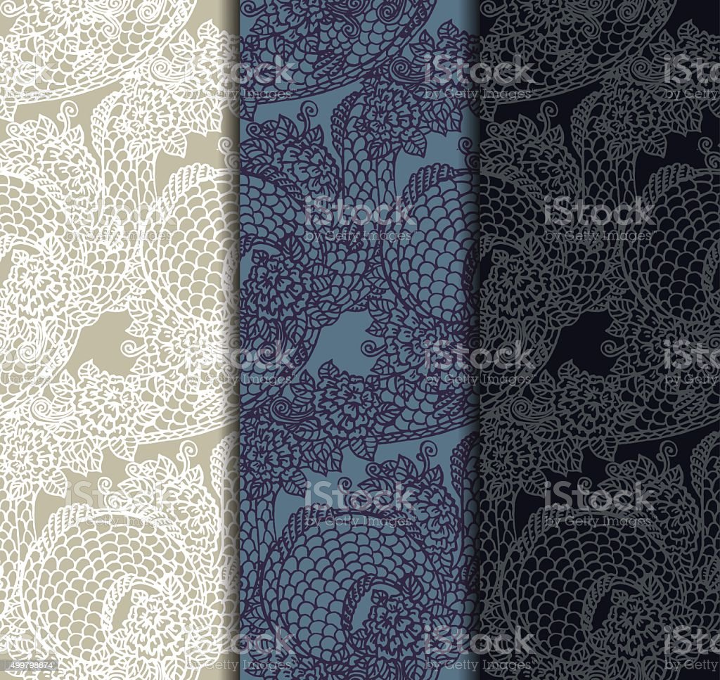 Seamless chinese dragon texture vector art illustration