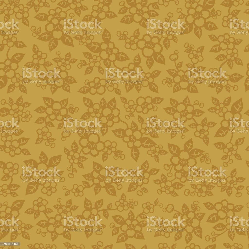 Seamless chinese floral vector art illustration