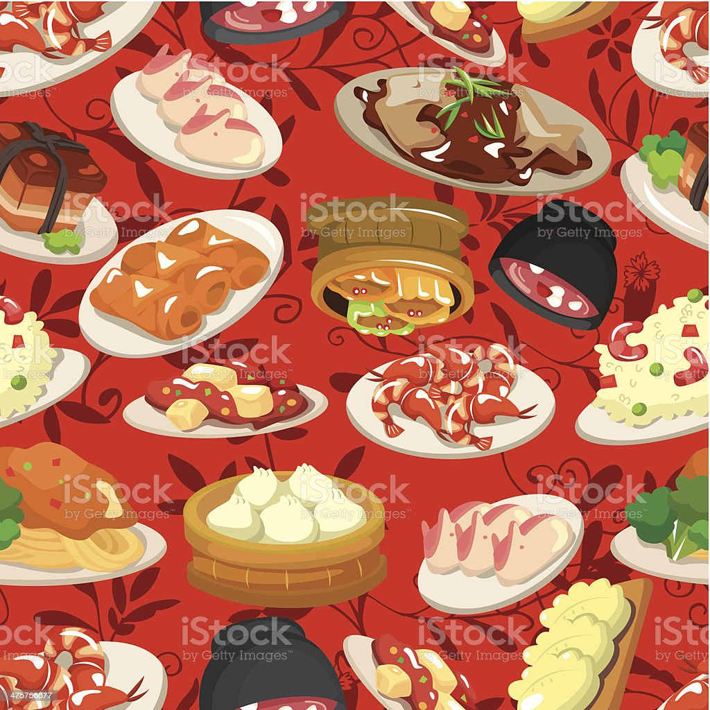 seamless chinese food pattern royalty-free seamless chinese food pattern stock vector art & more images of asia