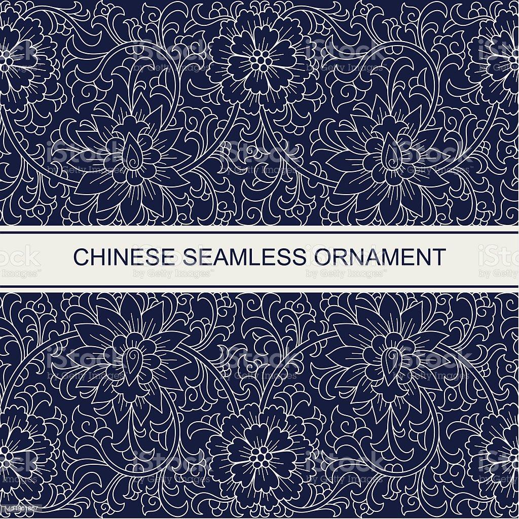 Seamless chinese ornament vector art illustration