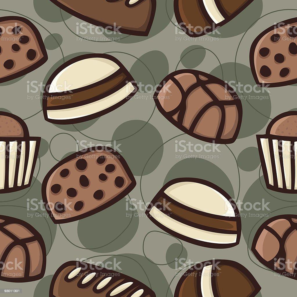 Seamless Chocolate pattern royalty-free stock vector art