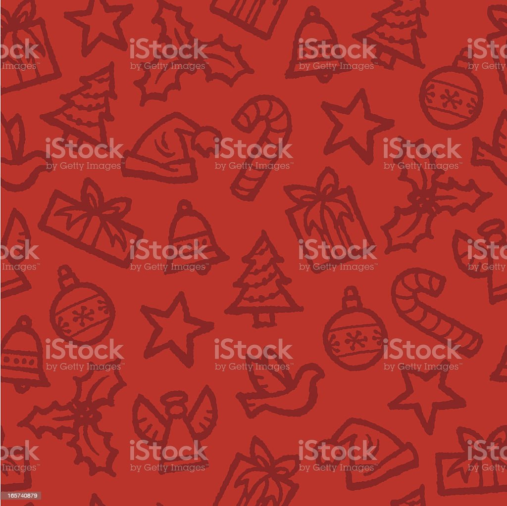 Seamless Christmas Background royalty-free seamless christmas background stock vector art & more images of angel