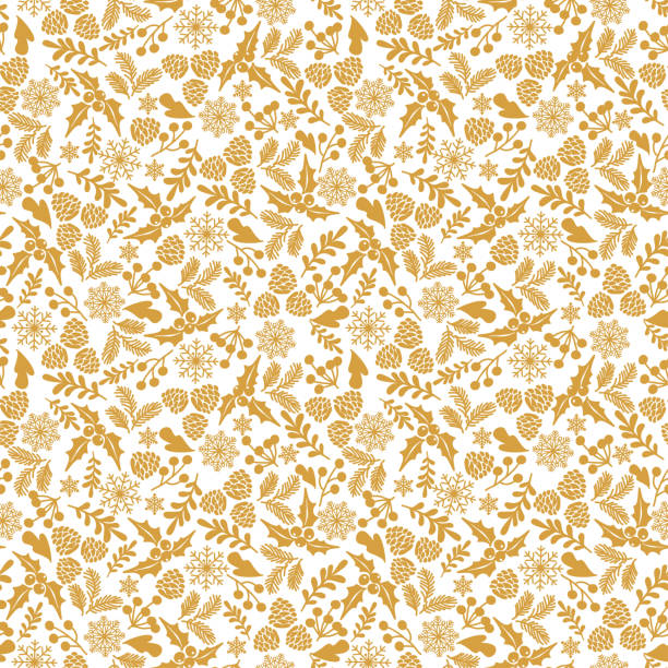 Seamless Christmas backgrounds Winter seamless  pattern with holly berries. Part of Christmas backgrounds collection. Can be used for wallpaper, pattern fills, surface textures,  fabric prints. christmas patterns stock illustrations