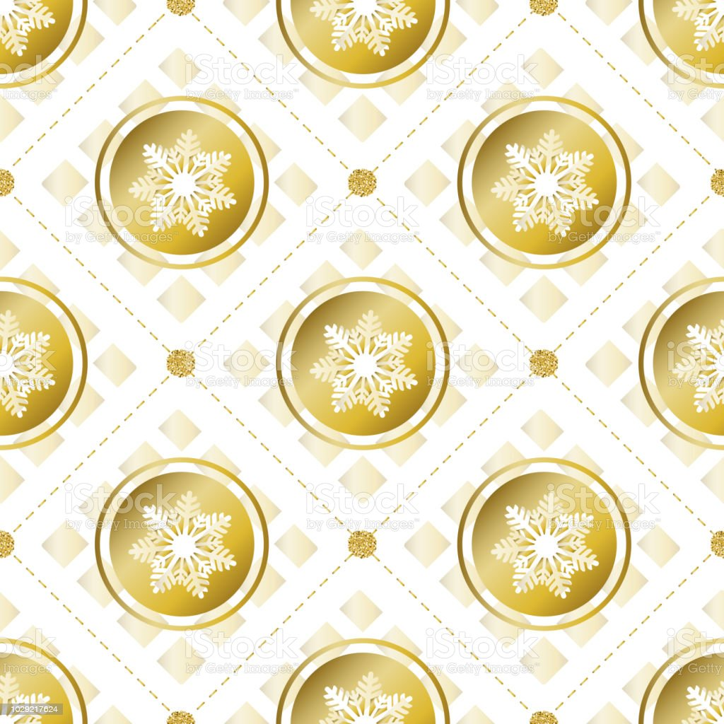 Seamless Christmas Pattern Background With Confetti Gold