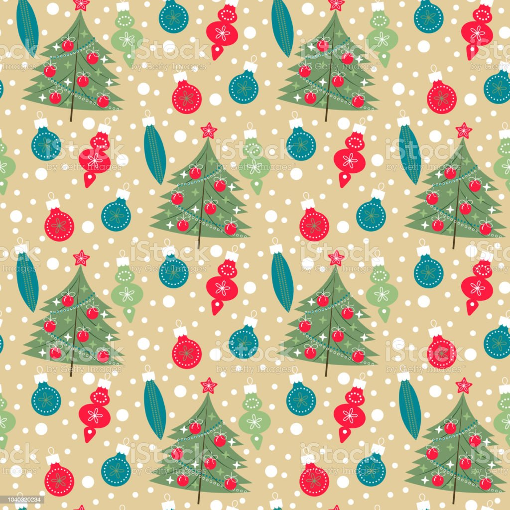 seamless christmas pattern cute color design for gift wrapping paper greeting cards posters