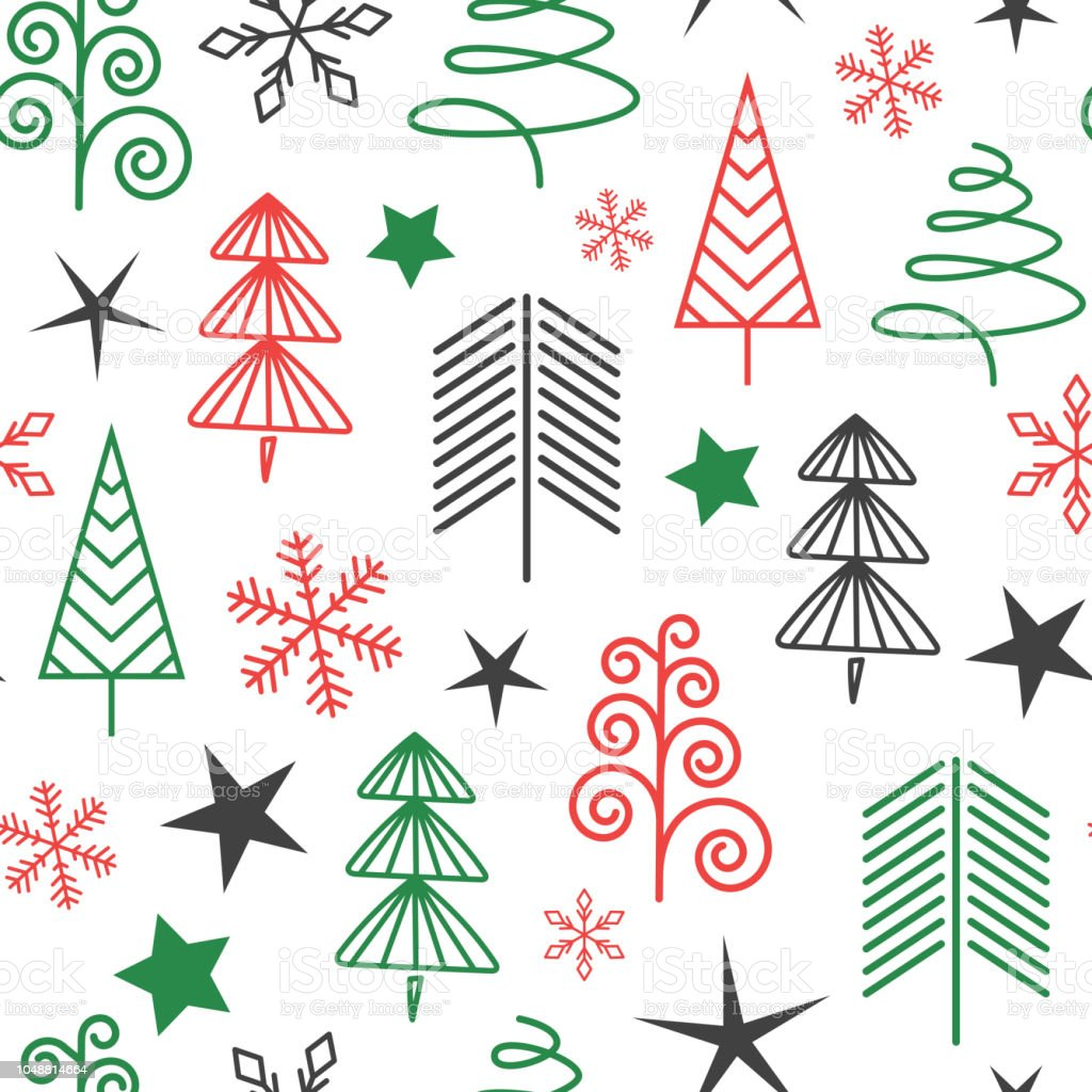 Seamless Christmas Pattern For Every Background Stock Vector Art ...