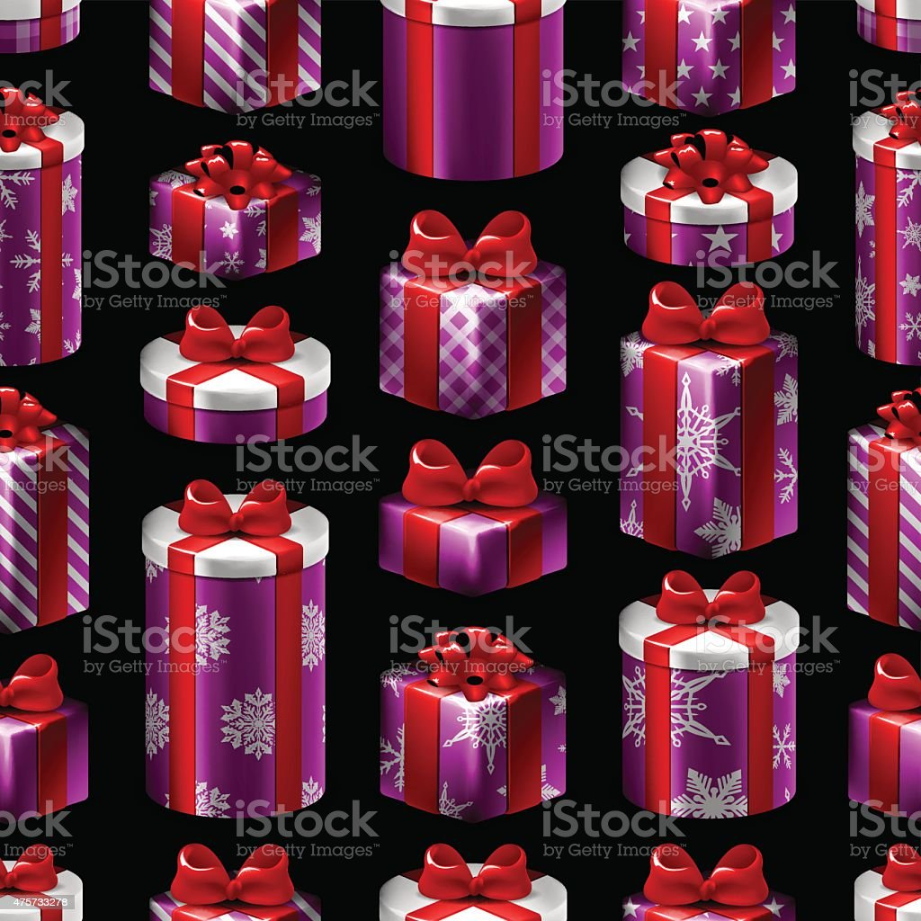 Seamless Christmas Pattern - Gifts royalty-free seamless christmas pattern gifts stock vector art & more images of 2015