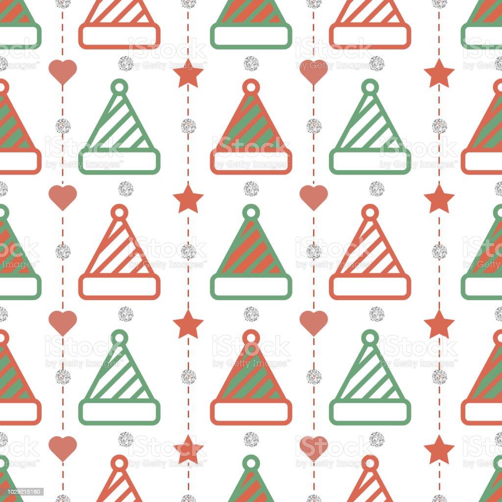 Ilustración de Sin Fisuras Patrón De Navidad Sobre Fondo Blanco Con ...
