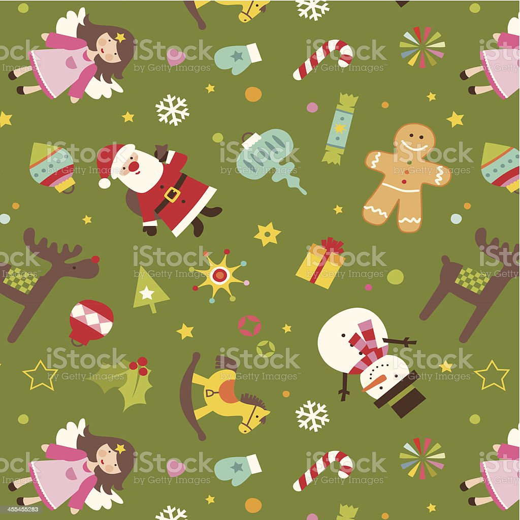 Seamless Christmas pattern royalty-free stock vector art