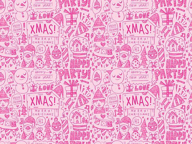 nahtlose weihnachten muster - dompfaff stock-grafiken, -clipart, -cartoons und -symbole