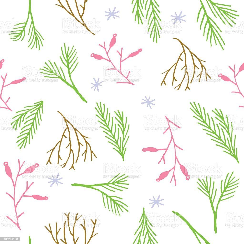 Ilustración de Patrón Sin Costuras De Navidad Papel De Envolver ...