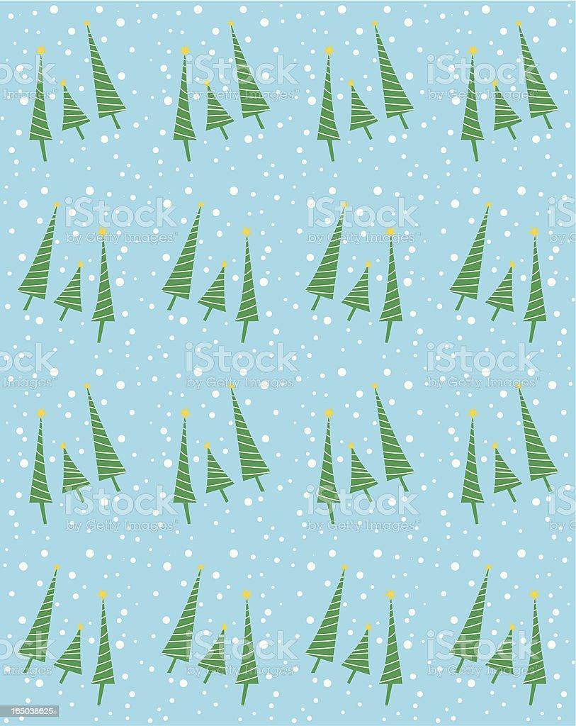 Seamless Christmas Tree Background ( Vector ) vector art illustration