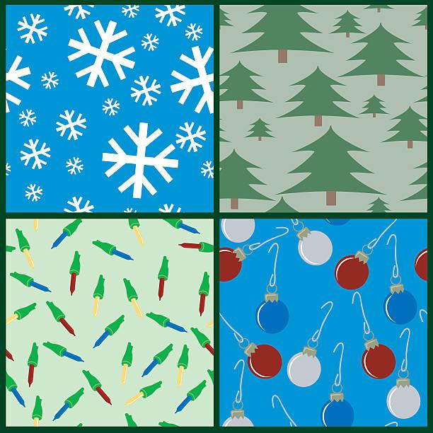 Seamless Christmas vector art illustration