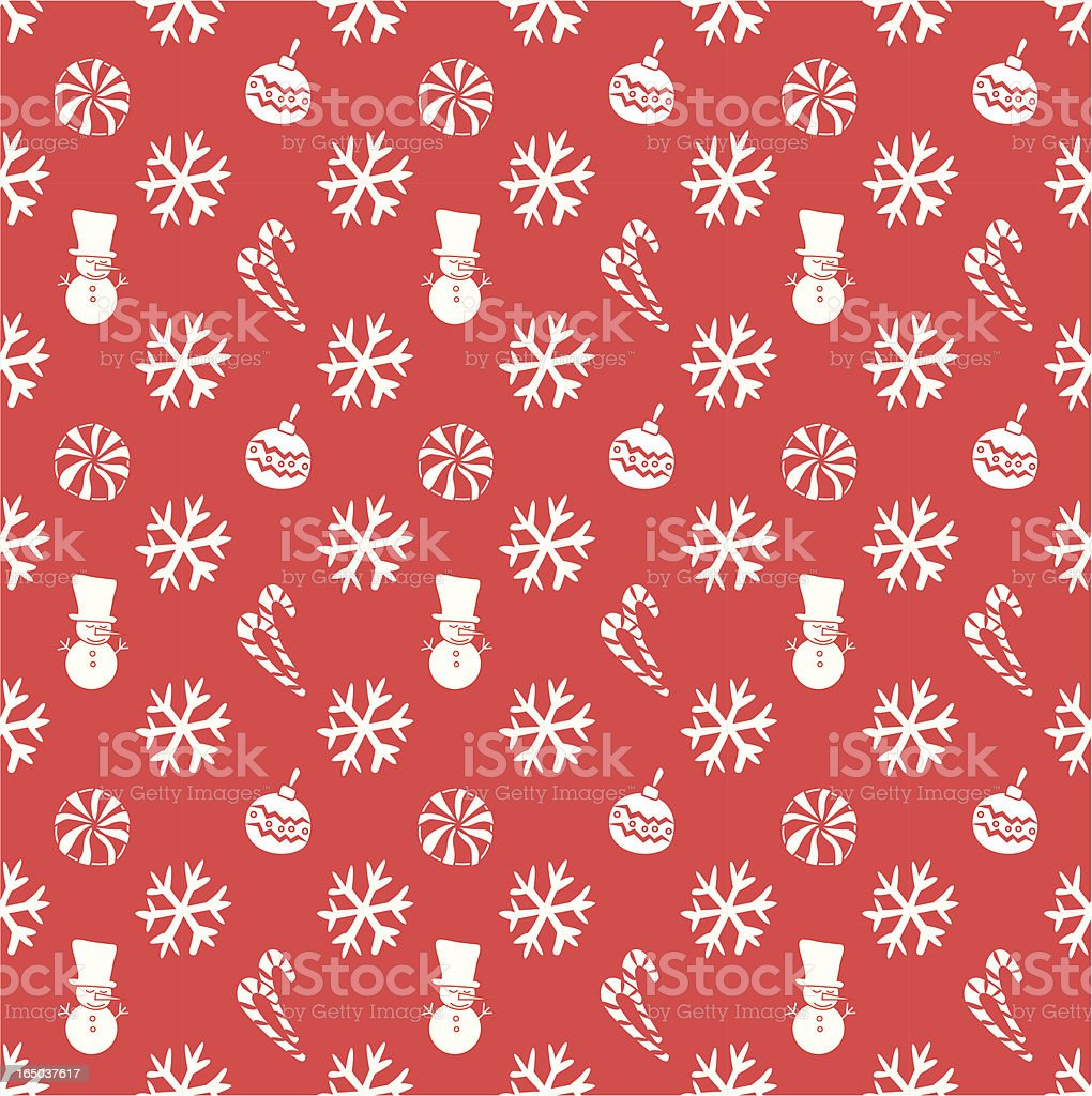 Seamless Christmas Wallpaper Background ( Vector ) royalty-free stock vector art