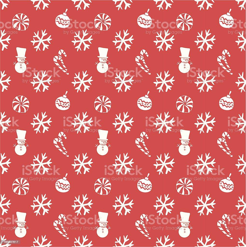 Seamless Christmas Wallpaper Background ( Vector ) vector art illustration