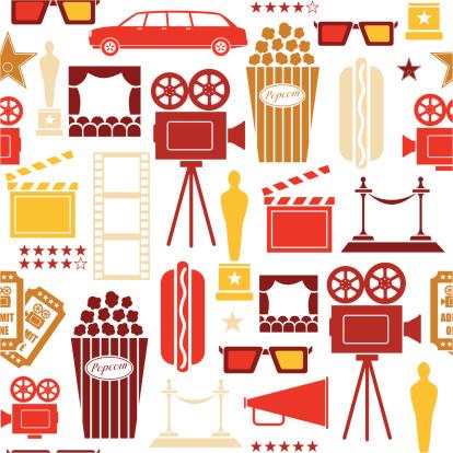 Seamless Cinema and Film Pattern