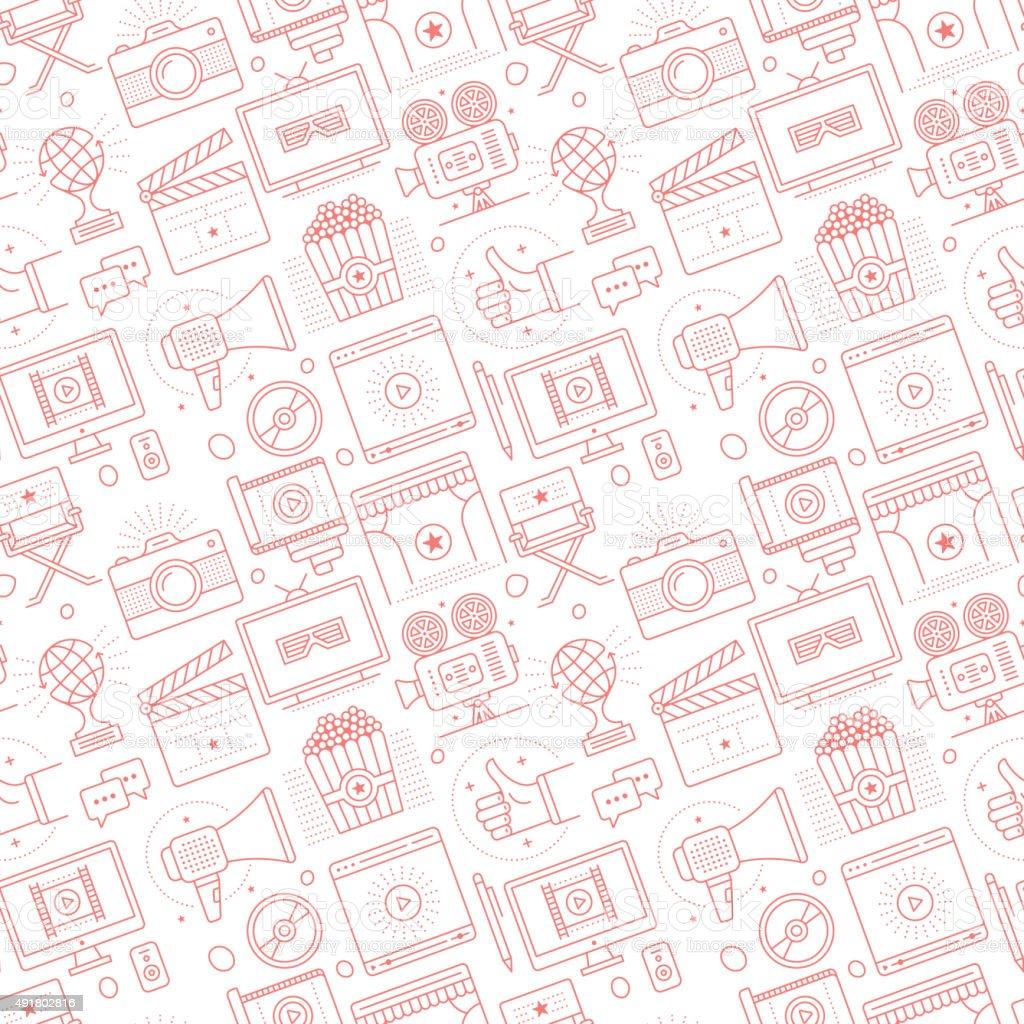 Seamless Cinema Pattern vector art illustration