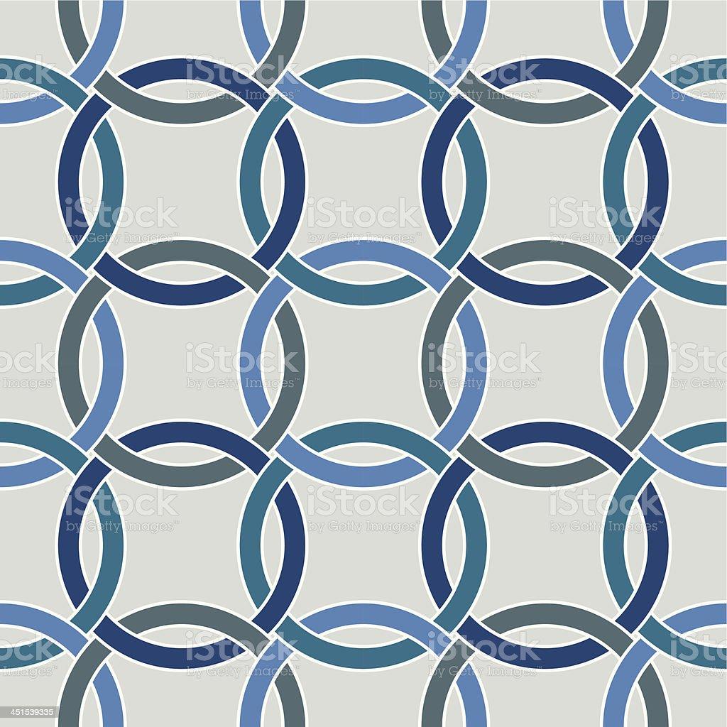 Seamless circle geometric pattern royalty-free stock vector art